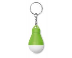 Svítící klíčenka INTUIT ve tvaru žárovky - limetková
