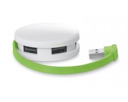 USB hub WHIES se 4 porty - limetková