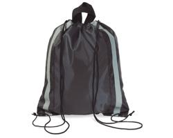 Reflexní batoh MAYAS se šňůrkami - černá