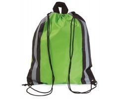 Reflexní batoh MAYAS se šňůrkami - limetková