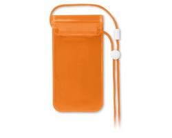 Vodotěsné pouzdro na mobil THUR - transparentní oranžová