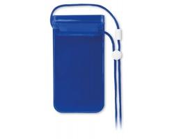 Vodotěsné pouzdro na mobil THUR - transparentní modrá