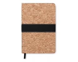 Linkovaný zápisník NEWPORT s korkovou obálkou, formát A5 - hnědá