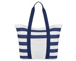 Pruhovaná plážová taška ACETA - modrá