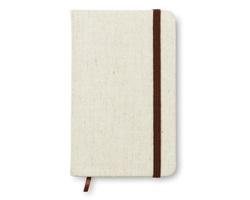 Zápisník s plátěnou obálkou QUASH, formát A6 - béžová