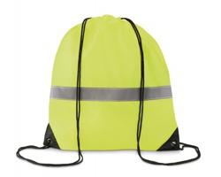 Polyesterový stahovací batoh WRAITHS s reflexním páskem - neonová žlutá