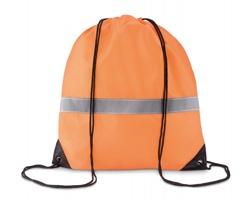 Polyesterový stahovací batoh WRAITHS s reflexním páskem - neonová oranžová