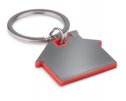Nerezový přívěsek na klíče HACIENDOS - červená