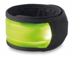 Textilní bezpečnostní reflexní páska REFLECTINO na paži - limetková