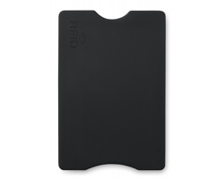 Plastový obal na platební kartu JURY s RFID ochranou - černá