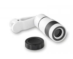 Zvětšující teleskopická čočka MULCH pro chytré telefony - bílá