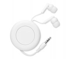 Navíjecí sluchátka PECK - bílá