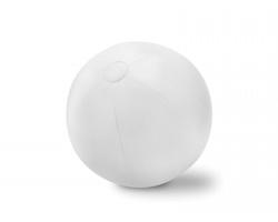 Velký nafukovací plážový míč LAIRD - bílá