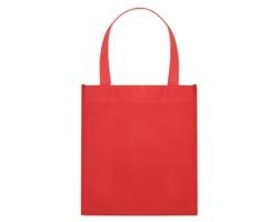 Netkaná nákupní taška BLOTTED s krátkými uchy - červená