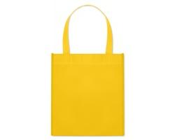 Netkaná nákupní taška BLOTTED s krátkými uchy - žlutá
