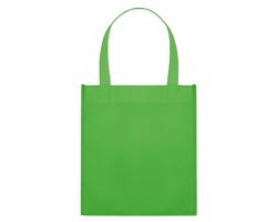 Netkaná nákupní taška BLOTTED s krátkými uchy - zelená