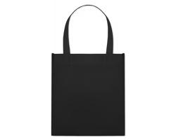 Netkaná nákupní taška BLOTTED s krátkými uchy - černá