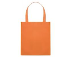 Netkaná nákupní taška BLOTTED s krátkými uchy - oranžová