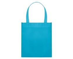 Netkaná nákupní taška BLOTTED s krátkými uchy - tyrkysová