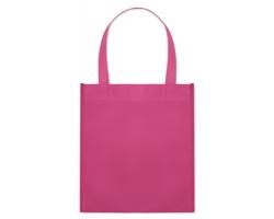 Netkaná nákupní taška BLOTTED s krátkými uchy - fuchsie