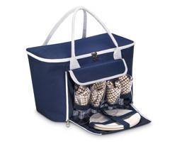Polyesterová pikniková taška CINDY pro 4 osoby - modrá