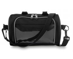 Cyklistická taška DASH s transparentní kapsou pro chytrý telefon - černá