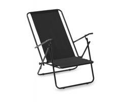 Polyesterová skládací kempingová židle KEMPITA - černá