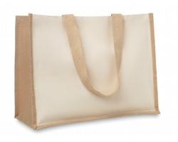 Jutová nákupní taška LETHE s dlouhými uchy - béžová