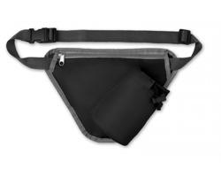 Polyesterová sportovní ledvinka DUSTI s přihrádkou na láhev - černá