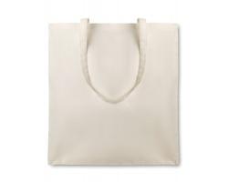 Bavlněná nákupní taška ORGANICA s dlouhými popruhy - béžová