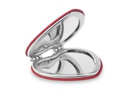 Dvojité magnetické zrcátko KNOT ve tvaru srdce - červená