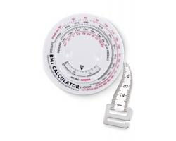 Plastový BMI metr SHORTEST - bílá