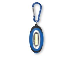 Plastová LED svítilna SVISTO s karabinou a magnetem - královská modrá