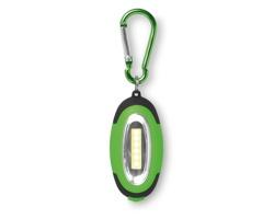 Plastová LED svítilna SVISTO s karabinou a magnetem - limetková