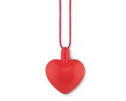 Plastový bublifuk CORAZON tvaru srdce, 30 ml - červená