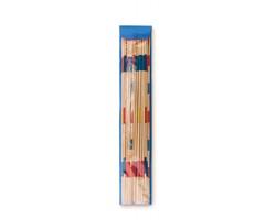 Bambusová hra mikádo PARTINOS v pouzdře - modrá