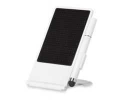 Skládací stojan na smartphone JOAN se stylusem - bílá