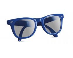 Plastové skládací sluneční brýle GEAR s UV ochranou - modrá