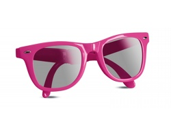 Plastové skládací sluneční brýle GEAR s UV ochranou - fuchsie