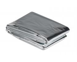 Nouzová deka SPES - ocelově stříbrná/šedá