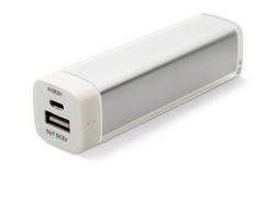 Kapesní powerbanka UNAIM s LED indikátorem stavu nabití - matně stříbrná