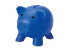 Plastová kasička ALONSO ve tvaru prasátka - modrá