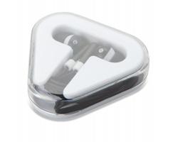Plastová sluchátka KINK v pouzdru - černá