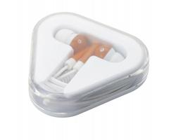 Plastová sluchátka KINK v pouzdru - oranžová