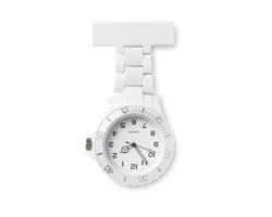Plastové analogové hodinky SHARYN pro zdravotní sestry - bílá