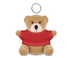 Plyšový medvěd JASON s kroužkem na klíče - červená