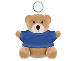 Plyšový medvěd JASON s kroužkem na klíče - modrá