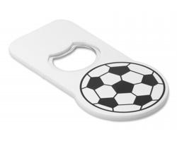 Fotbalový otvírák na láhve MORGAN s magnetem - bílá