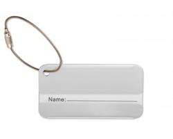 Hliníková jmenovka SHERD na zavazadla - matně stříbrná