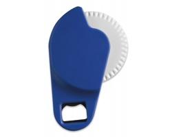 Plastový kráječ na pizzu CROPE s otvírákem na láhve - modrá